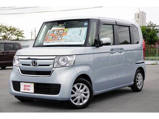 沖縄の中古車 ホンダ N-BOX 車両価格 154.8万円 リ済別 2018(平成30)年 0.8万km ライトブルーメタリック