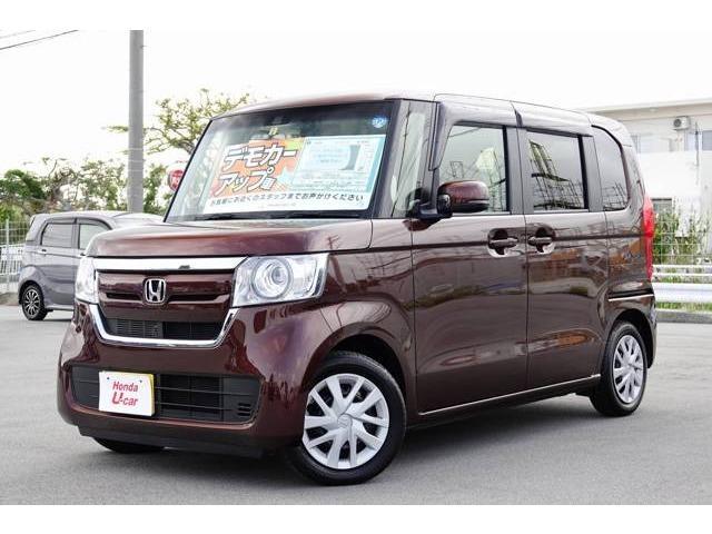 沖縄の中古車 ホンダ N-BOX 車両価格 149.8万円 リ済別 2018(平成30)年 0.6万km ブラウンパール