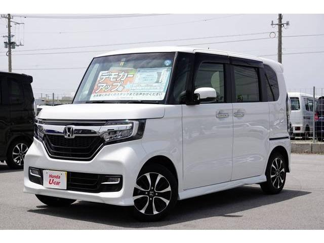 沖縄県の中古車ならN-BOXカスタム G・スロープLホンダセンシング デモカーアップ