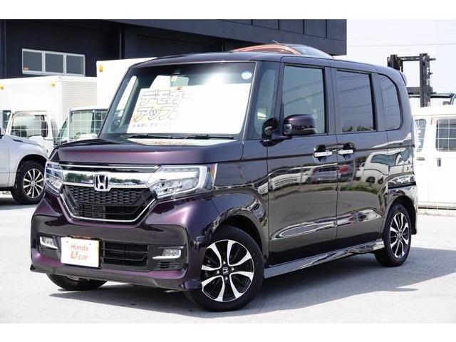 沖縄の中古車 ホンダ N-BOXカスタム 車両価格 170.8万円 リ済別 2018(平成30)年 0.6万km パープルパール