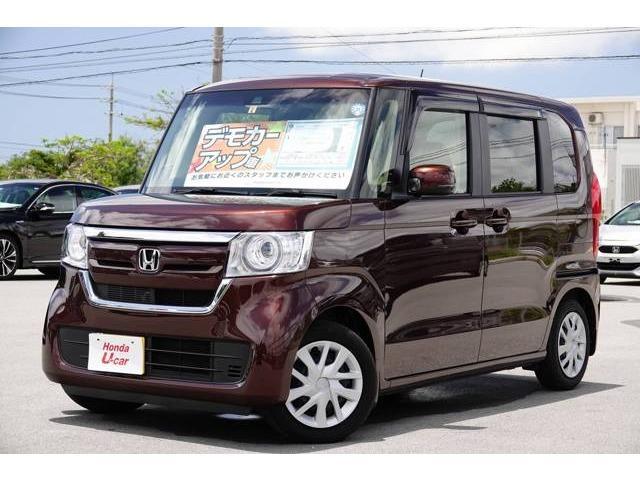 沖縄の中古車 ホンダ N-BOX 車両価格 159.8万円 リ済別 2018(平成30)年 0.6万km ブラウンパール