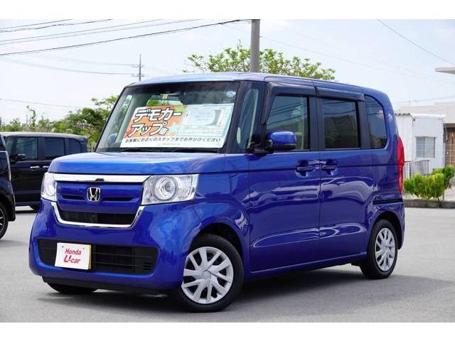N-BOX(沖縄 中古車) 色:ブルーメタリック 価格:159.8万円 年式:2018(平成30)年 走行距離:0.4万km