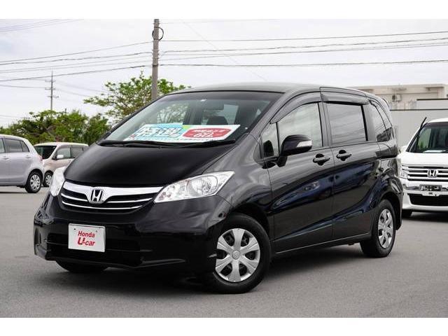 沖縄の中古車 ホンダ フリード 車両価格 94.8万円 リ済別 2013(平成25)年 5.6万km ブラックパール