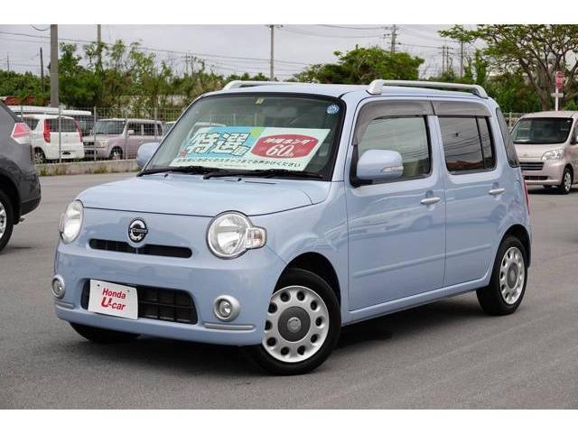 沖縄の中古車 ダイハツ ミラココア 車両価格 65.8万円 リ済別 2010(平成22)年 5.2万km ライトブルー