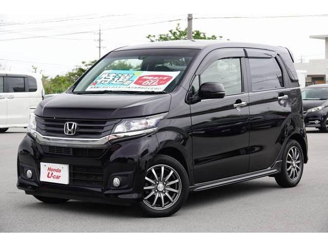 沖縄の中古車 ホンダ N-WGNカスタム 車両価格 99.8万円 リ済別 2015(平成27)年 4.9万km パープルパール