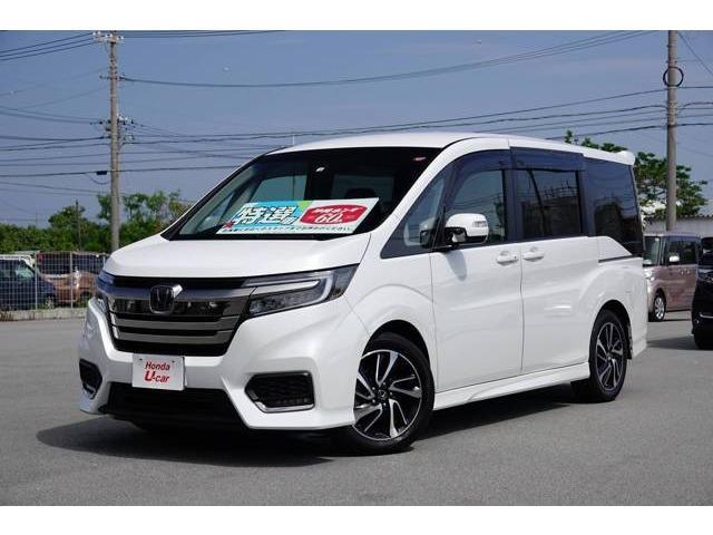 沖縄の中古車 ホンダ ステップワゴンスパーダ 車両価格 296.8万円 リ済別 2018(平成30)年 0.9万km ホワイトパール