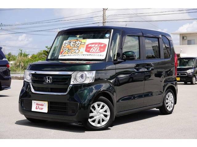 N-BOX(沖縄 中古車) 色:グリーンパール 価格:149.8万円 年式:2018(平成30)年 走行距離:0.6万km