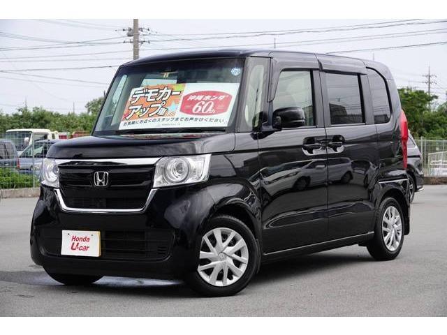 N-BOX(沖縄 中古車) 色:ブラックパール 価格:149.8万円 年式:2018(平成30)年 走行距離:0.6万km