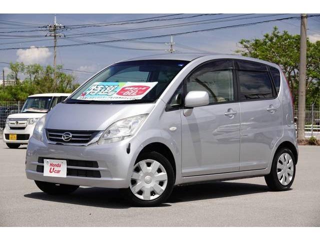 沖縄の中古車 ダイハツ ムーヴ 車両価格 44.8万円 リ済別 2010(平成22)年 2.5万km シルバーメタリック
