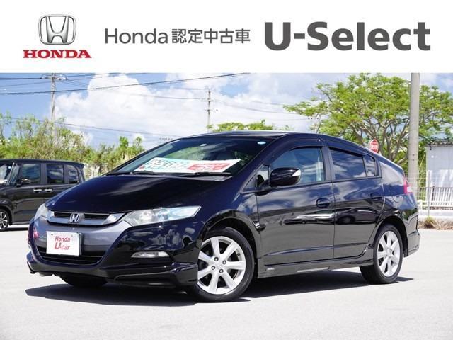 沖縄の中古車 ホンダ インサイト 車両価格 50.8万円 リ済別 2009(平成21)年 6.2万km ブラックパール
