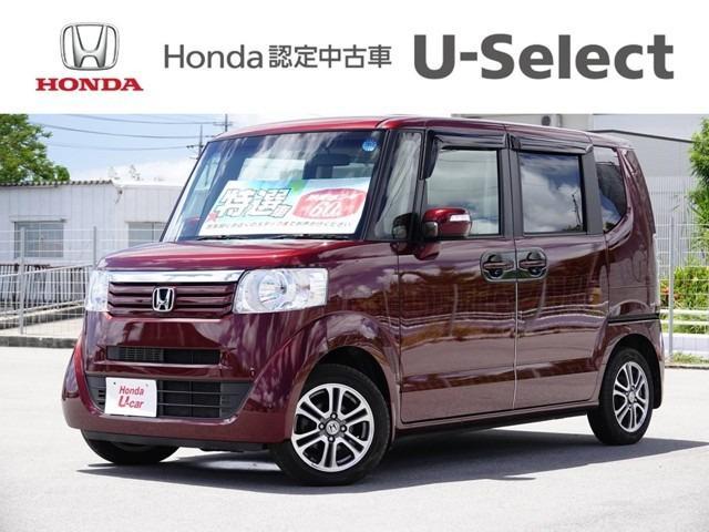 沖縄の中古車 ホンダ N-BOX 車両価格 112.8万円 リ済別 2013(平成25)年 3.6万km ワインレッド