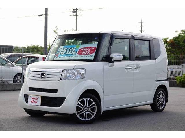 N-BOX+(沖縄 中古車) 色:ホワイトパール 価格:89.8万円 年式:2013(平成25)年 走行距離:2.9万km