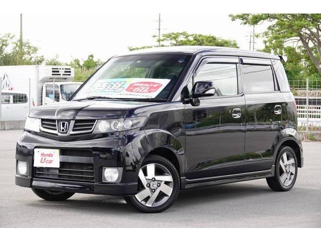 沖縄の中古車 ホンダ ゼストスパーク 車両価格 62.8万円 リ済別 2011(平成23)年 4.8万km ブラックパール
