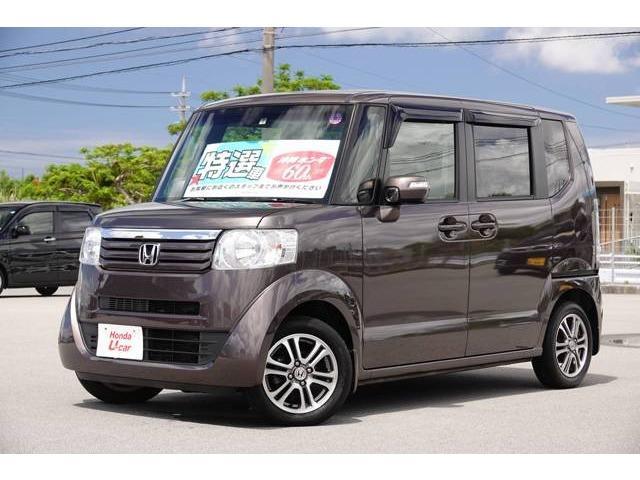 沖縄の中古車 ホンダ N-BOX 車両価格 108.8万円 リ済別 2015(平成27)年 3.1万km ブラウンパール