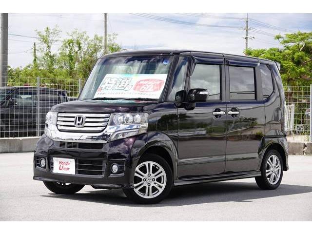 沖縄の中古車 ホンダ N-BOXカスタム 車両価格 88.8万円 リ済別 2012(平成24)年 6.6万km パープルパール
