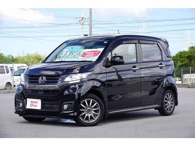 N-WGNカスタム(沖縄 中古車) 色:ブラック 価格:82.8万円 年式:2014(平成26)年 走行距離:5.6万km