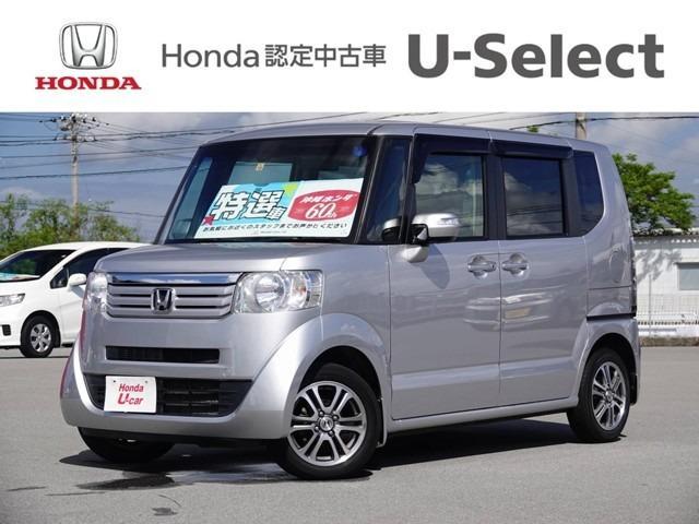沖縄の中古車 ホンダ N-BOX 車両価格 99.8万円 リ済別 2014(平成26)年 2.3万km シルバーメタリック