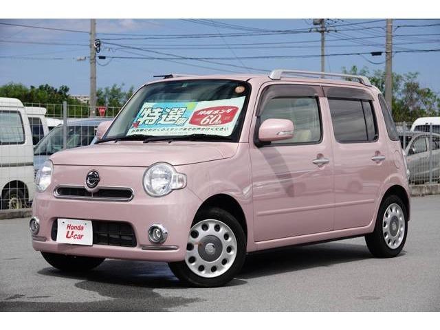 沖縄の中古車 ダイハツ ミラココア 車両価格 59.8万円 リ済別 2012(平成24)年 5.6万km ピンクパール