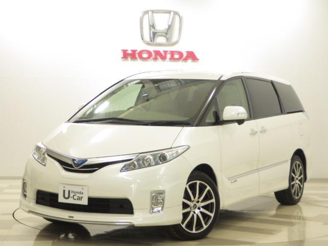 トヨタ 2.4 G 4WD 純正ナビ リア席モニター W電動ドア