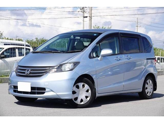 沖縄の中古車 ホンダ フリード 車両価格 54.8万円 リ済別 2009(平成21)年 5.8万km ライトブルー