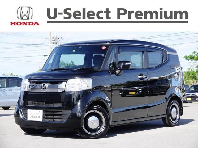 沖縄の中古車 ホンダ N-BOXスラッシュ 車両価格 124.8万円 リ済別 2015(平成27)年 2.8万km ブラック
