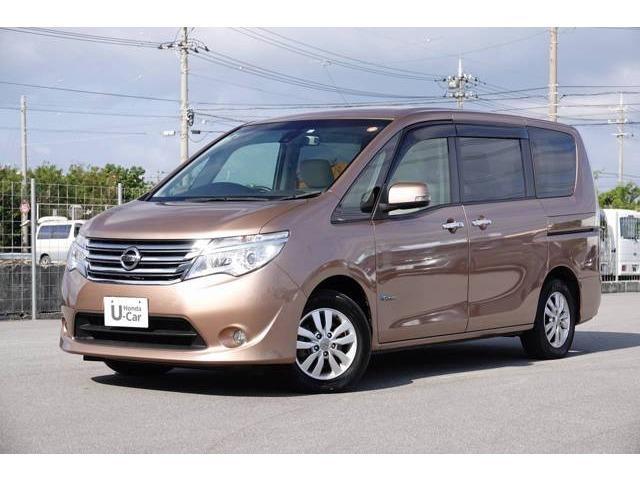 沖縄の中古車 日産 セレナ 車両価格 159.8万円 リ済別 2014(平成26)年 5.6万km ロゼブロンズ