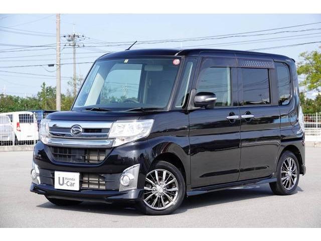 沖縄の中古車 ダイハツ タント 車両価格 98.8万円 リ済別 2014(平成26)年 5.8万km ブラックM.M