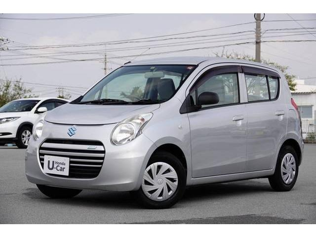 沖縄の中古車 スズキ アルトエコ 車両価格 29.8万円 リ済別 2013(平成25)年 7.2万km シルキーシルバーM