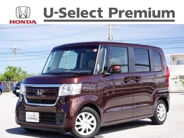 沖縄の中古車 ホンダ N-BOX 車両価格 149.8万円 リ済別 2019(平成31)年 1.2万km プレミアムアガットブラウンパール