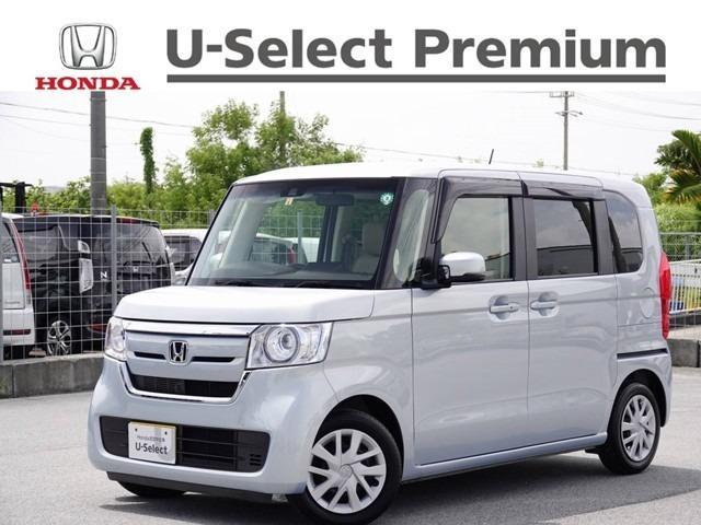 N-BOX(沖縄 中古車) 色:モーニングミストブルーメタリック 価格:149.8万円 年式:2019(令和1)年 走行距離:0.7万km