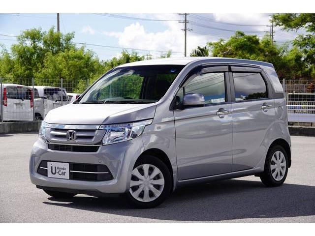 沖縄の中古車 ホンダ N-WGN 車両価格 94.8万円 リ済別 2017(平成29)年 2.8万km ルナシルバーM