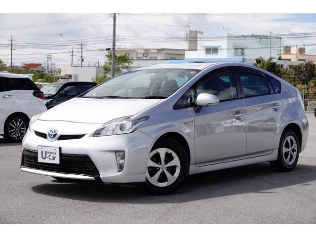 沖縄の中古車 トヨタ プリウス 車両価格 74.8万円 リ済別 2012(平成24)年 8.2万km シルバーM