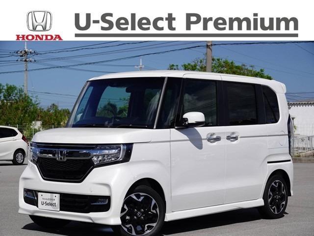 沖縄の中古車 ホンダ N-BOXカスタム 車両価格 189.8万円 リ済別 2020(令和2)年 4km プラチナホワイトパール