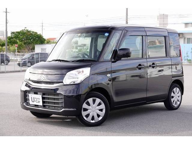 沖縄の中古車 スズキ スペーシア 車両価格 94.8万円 リ済別 2015(平成27)年 3.1万km ブルーイッシュブラックパール