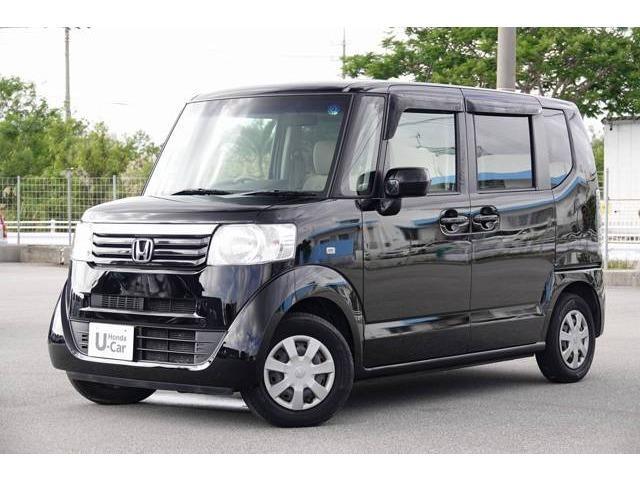 沖縄の中古車 ホンダ N-BOX 車両価格 69.8万円 リ済別 2012(平成24)年 6.8万km クリスタルブラック