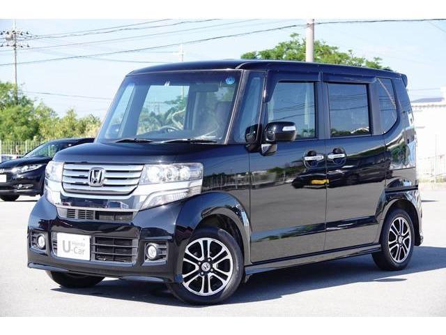 沖縄の中古車 ホンダ N-BOXカスタム 車両価格 72.8万円 リ済別 2013(平成25)年 10.7万km クリスタルブラック