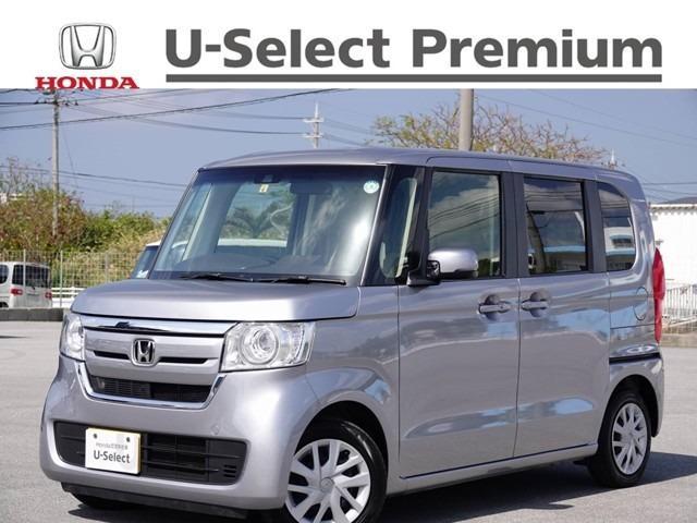 沖縄の中古車 ホンダ N-BOX 車両価格 152.8万円 リ済別 2019(令和1)年 0.9万km ルナシルバーM