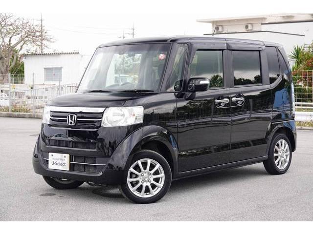 沖縄の中古車 ホンダ N-BOX 車両価格 103.8万円 リ済別 2016(平成28)年 2.5万km クリスタルブラック