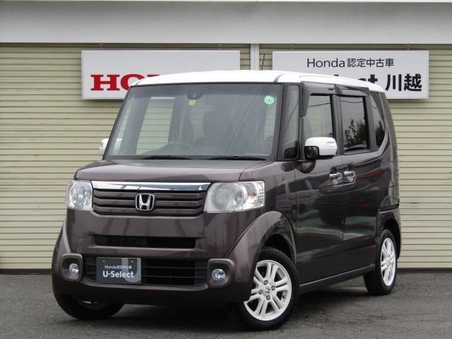 ホンダ N-BOX G ターボSSパッケージ ナビ・HID・リア席モニター・タイヤ新品