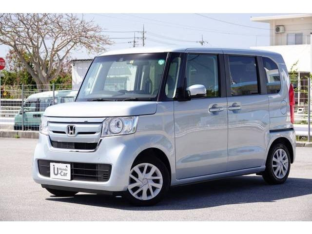 沖縄の中古車 ホンダ N-BOX 車両価格 126.8万円 リ済別 2018(平成30)年 2.2万km モーニングミストブルーメタリック