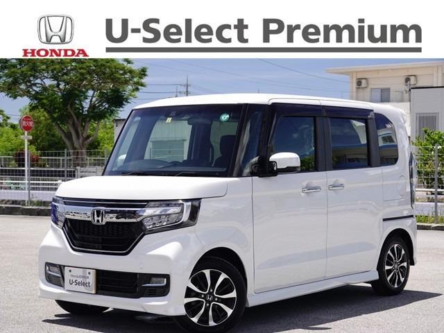 沖縄の中古車 ホンダ N-BOXカスタム 車両価格 174.8万円 リ済別 2020(令和2)年 0.6万km プラチナホワイトパール