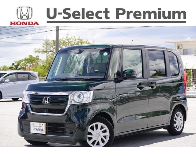沖縄の中古車 ホンダ N-BOX 車両価格 162.8万円 リ済別 2020(令和2)年 0.7万km ブリティッシュグリーンパール