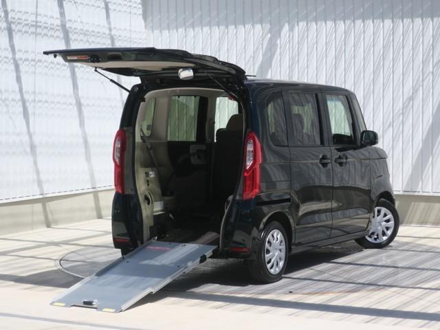 ホンダ N-BOX G・スロープLホンダセンシング アルミスロープ 車いす牽引用電動ウインチ 左電動スライドドア ナビ バックカメラ
