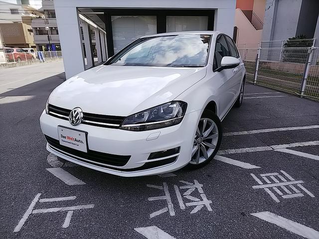 沖縄の中古車 フォルクスワーゲン VW ゴルフ 車両価格 210万円 リ済別 2016年 2.4万km ピュアホワイト