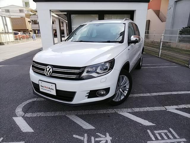 沖縄の中古車 フォルクスワーゲン VW ティグアン 車両価格 230万円 リ済別 2016年 2.2万km ピュアホワイト