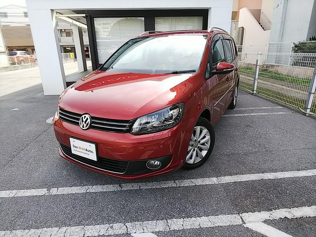 沖縄の中古車 フォルクスワーゲン VW ゴルフトゥーラン 車両価格 150万円 リ済別 2013年 3.7万km ワイルドチェリーM