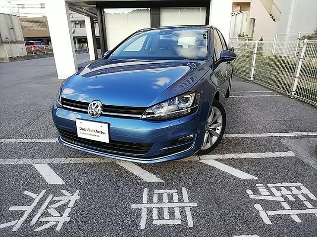 沖縄の中古車 フォルクスワーゲン VW ゴルフ 車両価格 200万円 リ済別 2016年 1.7万km パシフィックブルー M