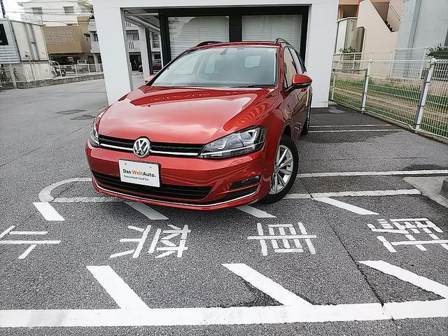 沖縄の中古車 フォルクスワーゲン VW ゴルフヴァリアント 車両価格 180万円 リ済別 2015年 2.4万km サンセットレッドM
