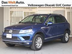 VW トゥアレグV6 アップグレード 1オーナー 禁煙車 純正ナビ 革シート