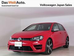 VW ゴルフR純正ナビ 禁煙ワンオーナー 黒レザーシート 認定中古車